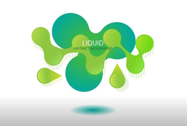 抽象的な液体バナー背景グラデーション緑