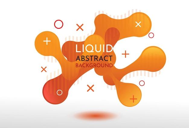 抽象的な液体バナー背景グラデーションオレンジ