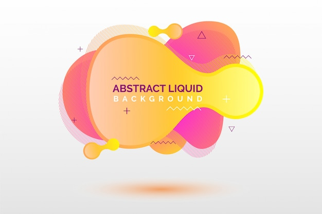 Abstract liquid banner background