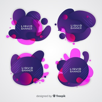 Abstract liquid banner collection