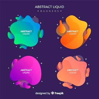 Abstract liquid banner