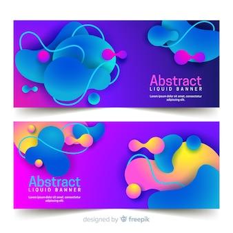Абстрактные жидкие баннеры