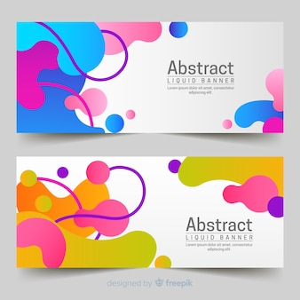 Abstract liquid banners