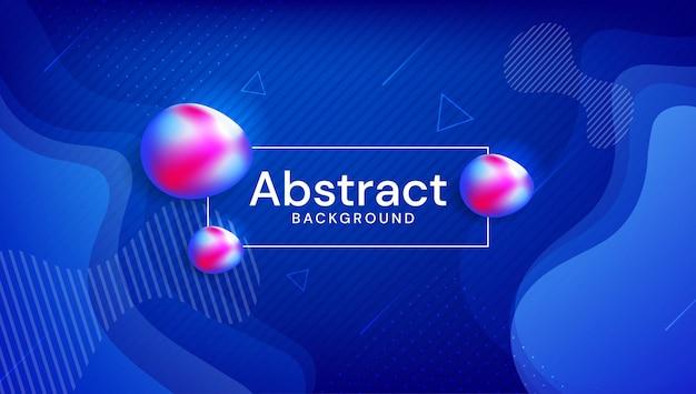 抽象的な液体色の背景デザイン流体グラデーション形状構成未来的なデザインベクトル
