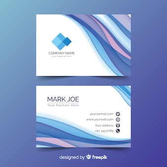 Abstract liquid effect for business card template