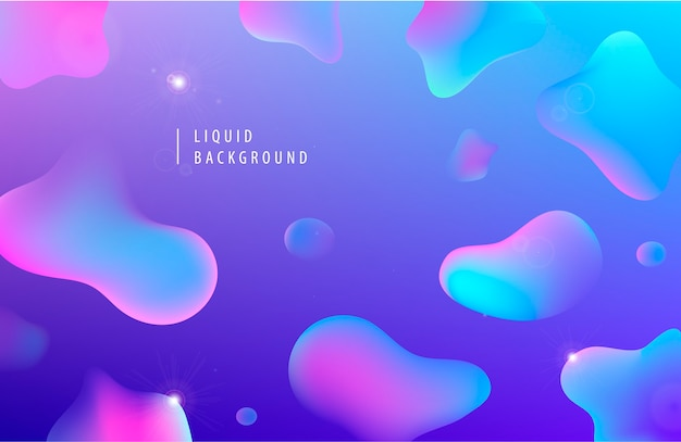 Abstract liquid flow background. fluid gradient  shapes composition.