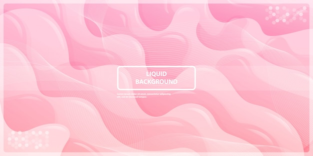 Abstract liquid gadient lines with pink banner background