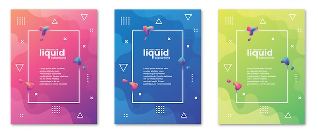 Abstract liquid and geometric banner