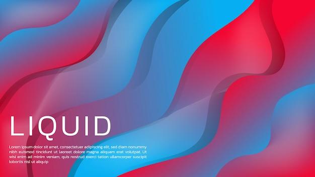 Webのランディングページと壁紙の鮮やかな色で抽象的な液体グラデーションの背景