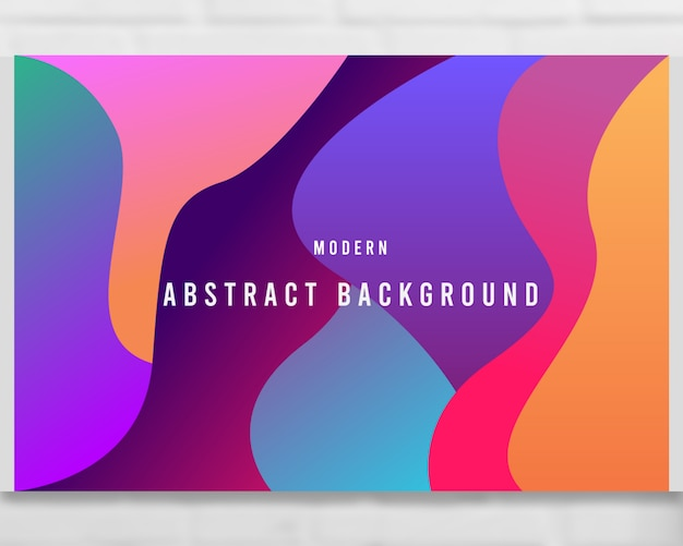 Abstract liquid gradient waves background