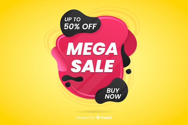 Abstract liquid mega sales background