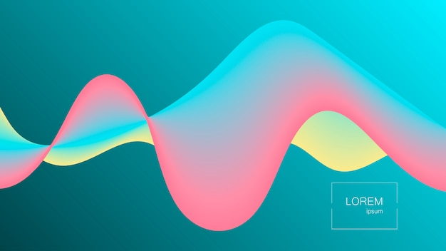 Abstract liquid shape background with effect.