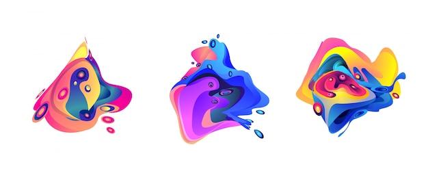 抽象的な液体の形状の背景