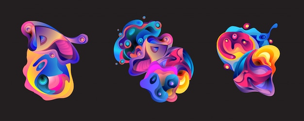 Abstract liquid shape background