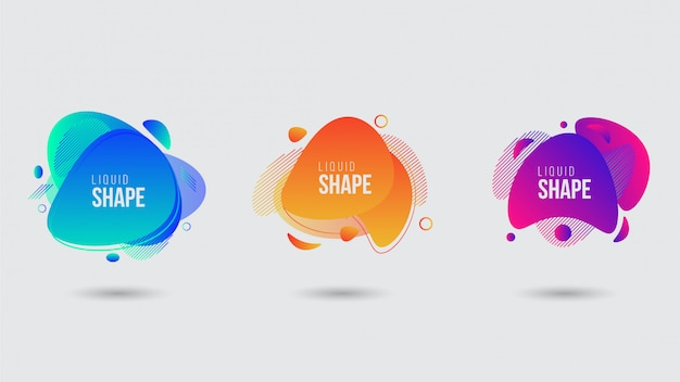Abstract liquid shape banner template