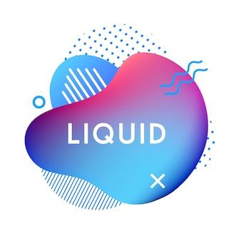 Abstract liquid shape banner