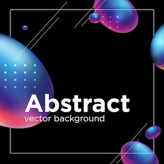 Abstract liquid shape. fluid design.