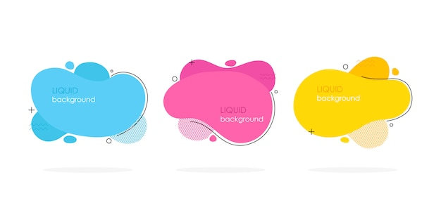 Abstract liquid shape set