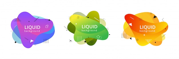 Abstract liquid shapes
