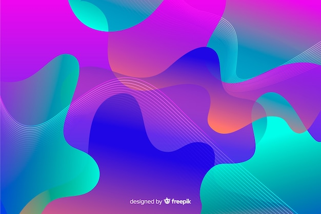 Abstract liquid star shapes gradient background