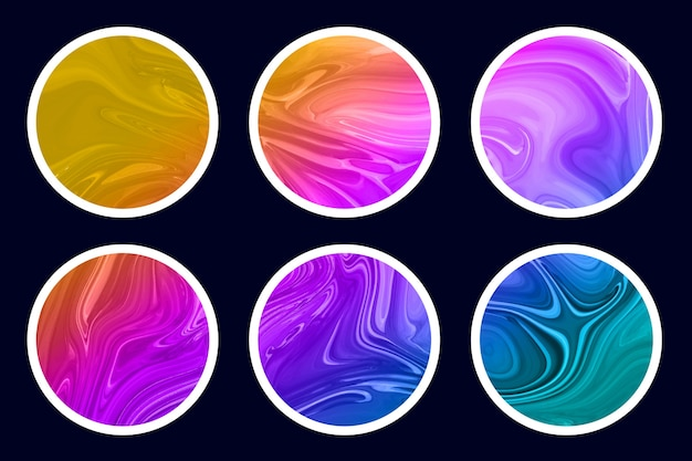 Abstract liquid watercolor texture   set