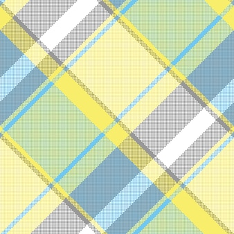 Abstract lite color check pixel plaid seamless pattern