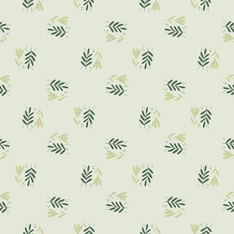 落書きスタイルの抽象的な小さな植物飾りシームレスパターン