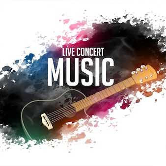 Abstract live concert music background with guitar