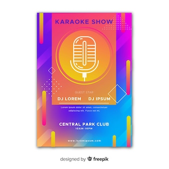 Abstract live music poster template