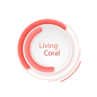 Abstract living coral vector banner