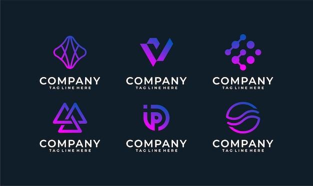 Набор абстрактных логотипов