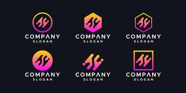 抽象的なロゴデザインテンプレートです。