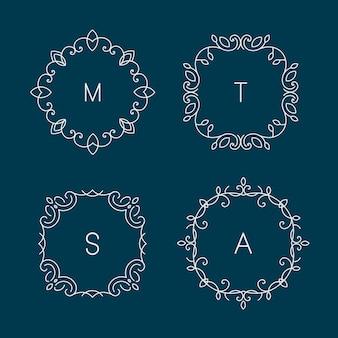 스파, 꽃 상점 및 화장품에 대한 추상 로고 디자인 템플릿. 프리미엄 벡터