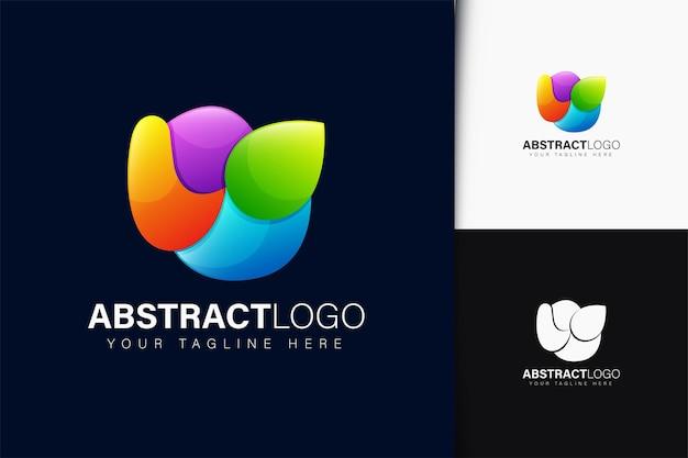 그라데이션으로 추상적인 로고 디자인