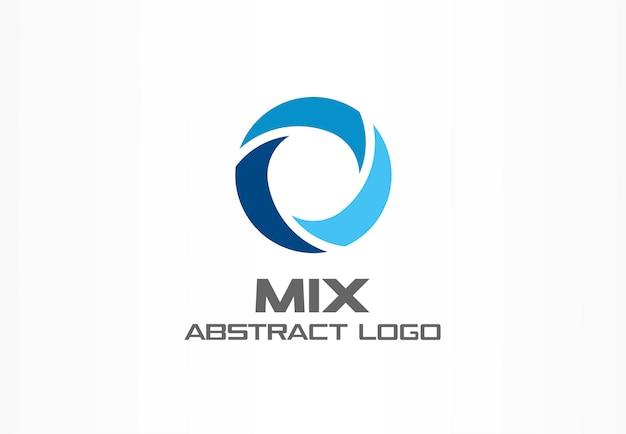 事業会社の抽象的なロゴ。コーポレートアイデンティティの要素