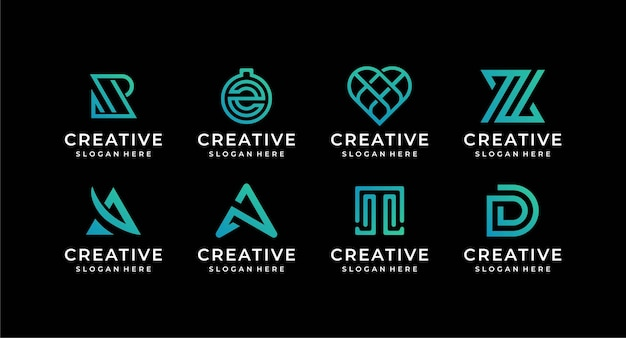 Abstract logo illustration design collection