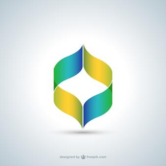 그라디언트 색상 스타일의 추상 로고