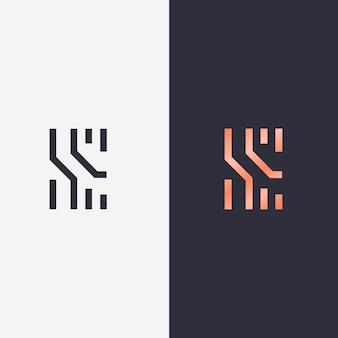 두 가지 버전의 개념에 추상 로고