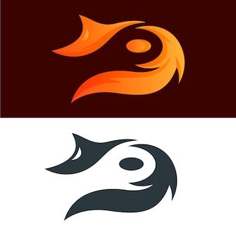 두 가지 버전의 추상 로고