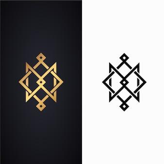 2つのバージョンの抽象的なロゴ