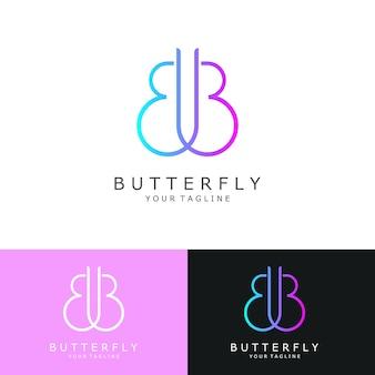 抽象的なロゴ、最初の文字b