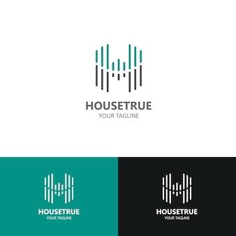 抽象的なロゴ、最初の文字h
