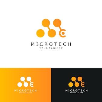抽象的なロゴ、初期文字m