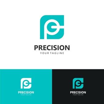 抽象的なロゴ、初期文字p