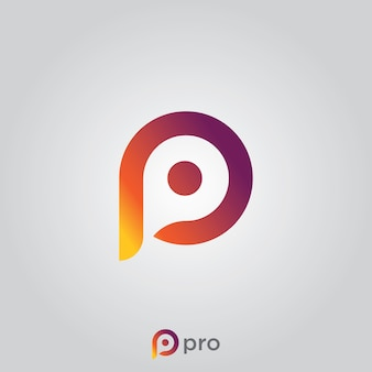 Abstract logo, initial letter p.