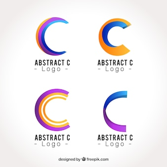 Abstract logo letter c template collection