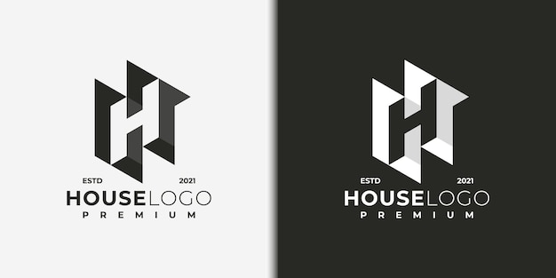 Abstract logo letter h, logo for building, real estate, contractor, architecture, consulting, investment.