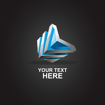 Abstract logo letter l 3d