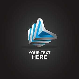 Абстрактный логотип буква l 3d
