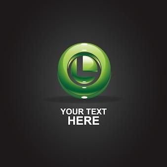 Абстрактный логотип буква l
